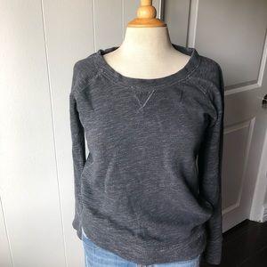 J. crew crewneck side zipper sweater small